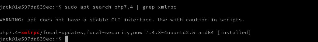 xmrpc php on ubuntu